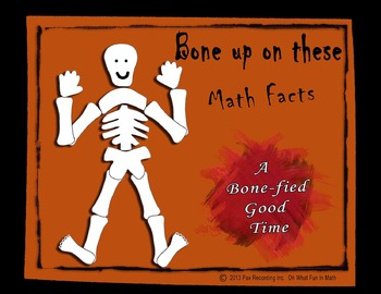 MATH FACTS** FALL AUTUMN HALLOWEEN ** BONE UP ON THESE MATH FACTS