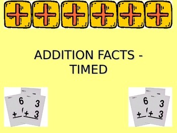 MATH FLUENCY - ADDITION FACTS TIMED