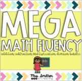 MEGA MATH FLUENCY - GROWING BUNDLE - FLASH CARDS + INCENTI
