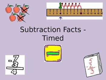 MATH FLUENCY - SUBTRACTION FACTS TIMED