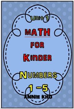 MATH FOR KINDER NUMBER 1 - 5