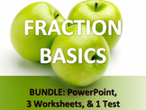 MATH FRACTIONS Basics Convert Mixed & Improper Fractions 3 WORKSHEETS PPT & TEST