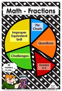 MATH FRACTIONS ~ Pie Charts ~ Math Stories & Challenges!