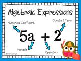 MATH FREEBIE: Algebraic Expressions Poster