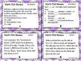 MATH FSA Task Cards Set 1