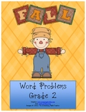MATH Fall word problems - Addition and Subtraction for 2nd-3rd grade