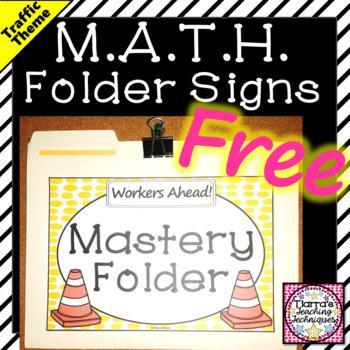 MATH Folder Signs