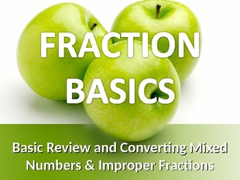 MATH FRACTIONS Basics Convert Mixed Numbers & Improper Fractions PowerPoint PPT