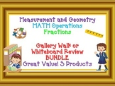 MATH GALLERY WALK BUNDLE Measurement and Geometry, Operations, Fractions