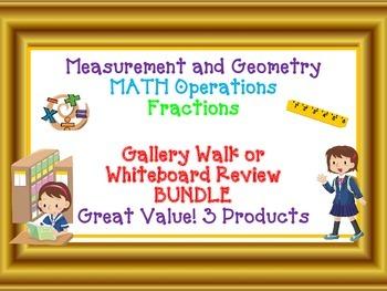 MATH GALLERY WALK BUNDLE Measurement and Geometry, Operati