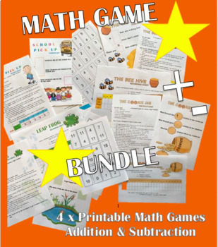 MATH GAME BUNDLE - ADDITION AND SUBTRACTION