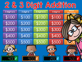 * MATH Jeopardy Style Game Show BUNDLE 1st, 2nd, 3rd Grade