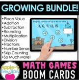 MATH GAMES BUNDLE Boom Card  | Digital Distance Learning