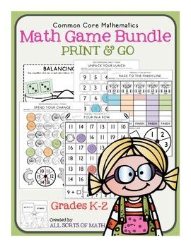 MATH GAMES BUNDLE (Grades K-2)