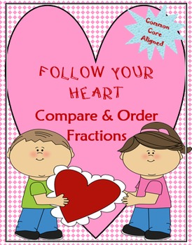 VALENTINE'S DAY FRACTIONS! Two Math Board Games!