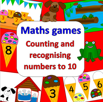 MATH GAMES no prep- COUNTING & RECOGNISING NUMBERS