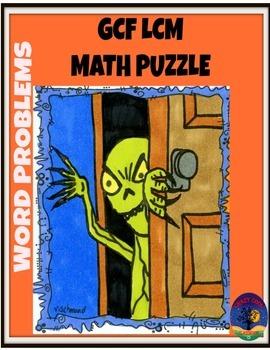 MATH HALLOWEEN PUZZLE - GCF LCM WORD PROBLEMS