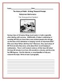 MATH HISTORY WRITING PROMPT: BABYLONIAN MATH