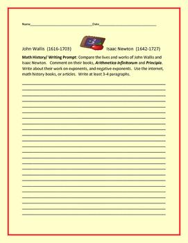 MATH HISTORY WRITING PROMPT: WALLIS & NEWTON