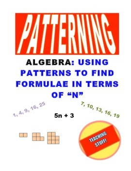 """PATTERNING: FINDING RULES in TERMS of """"N"""" UNIT HANDOUTS and TEST"""