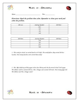 Guided Math Practice Sheets. 75 Pages and fully editable.