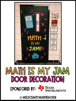 MATH IS MY JAM Classroom Door Decoration