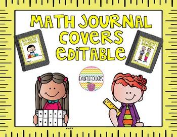 MATH JOURNAL COVERS-EDITABLE