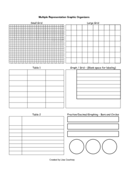 MATH JOURNAL with multiple representation graphic organizers