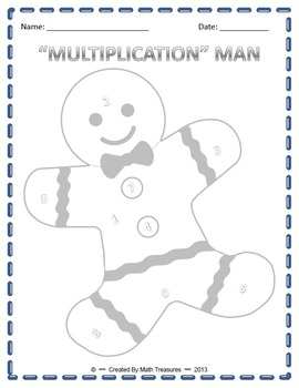 """MATH"" MAN BUNDLE. Addition, Subtraction, Multiplication, and Division Game"
