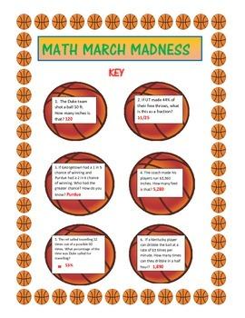MATH MARCH MADNESS