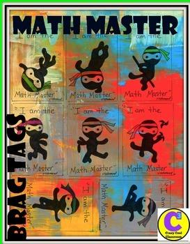BRAG TAGS - MATH MASTER
