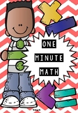 MATH MAD MINUTES - DIVISION, ADDITION, MULTIPLICATION, SUBSTRACTION