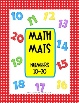 MATH MATS!  Numbers 10-20 (subitizing those Tricky Teens!)