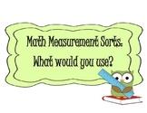 MATH MEASUREMENT SORTS & QUIZ ~ GRADES 1ST, 2ND, 3RD, OR ESL REVIEW