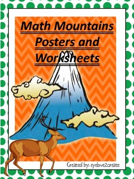 MATH MOUNTAINS~~~~NUMBER FAMILIES~~~{WORKSHEETS}