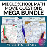 MATH MOVIE questions BUNDLE End of the year Activity