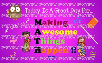 MATH:  Making Awesome Things Happen Poster or Banner
