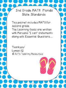 """MATH- Marzano """"I can"""" Statements and (EDITABLE) Essential"""