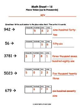MATH Skill Sheets & Mini-Lessons MONTH 2-Decimals, Rounding & 3 Digit Multip.