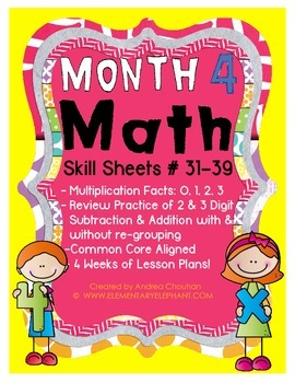 MATH Skill Sheets & Mini-Lessons MONTH 4 - Multiplication 0-3