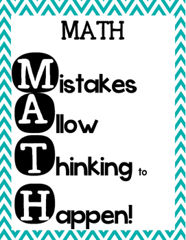 MATH Mistakes Allow Thinking to Happen