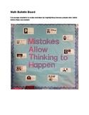 MATH - Mistakes Bulletin Board