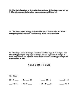 MATH Module 3 Review, Grade 3