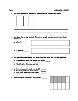 MATH Module 5 Topics A-C Quizzes, Grade 3