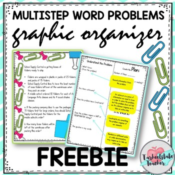 Multi-step Word Problems Graphic Organizer FREEBIE