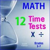 MENTAL MATH: Multiplication & Division - 12 Basic Facts Time Tests (Gr. 2-7)