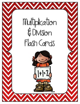 MATH Multiplication and Division Flash Cards and Answers