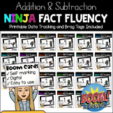 MATH NINJA: Addition & Subtraction Basic Facts Fluency BOOM CARDS