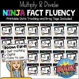 MATH NINJA: Multiply & Divide Fact Fluency: BOOM CARDS