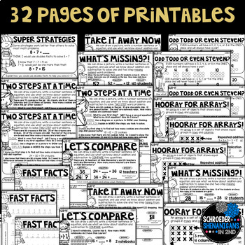 MATH NO PREP PRINTABLES GRABITS BUNDLE